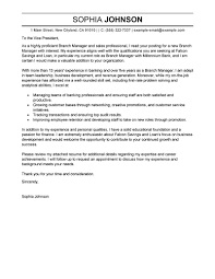 Best Branch Manager Cover Letter Examples Livecareer