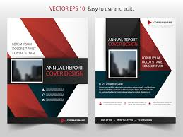 Mini Brochure Design Red Black Triangle Annual Report Brochure Stock Vector Royalty Free