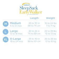 Halo Early Walker Size Chart Halo Sleepsack Micro Fleece Early Walker Wearable Blanket Pink Cupcake X Large Discontinued By