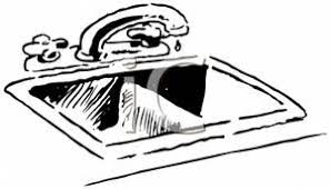 sink clipart. black and white kitchen sink clip art image clipart