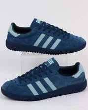 adidas vintage. adidas originals - bermuda trainers in vintage navy \u0026 sky blue suede