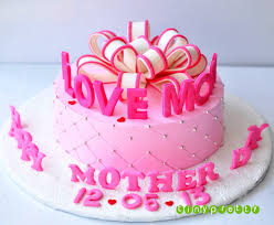 Cakes For Mom Happy Mother Day Cake Birthday Fondant Pinterest Mothers