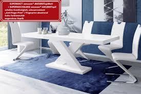 Design Esstisch He 888 Weiß Matt Hochglanz Kombination Ausziehbar