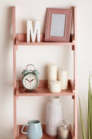 wooden ladder shelf furniture. Furniture Hack- Cheap Wooden Ladder Shelves Sprayed With Rose Gold Spray Paint From Rust- Shelf I