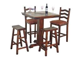 42 pub table pub table in dark chocolate with slates 42 round pub table set