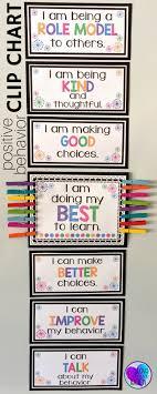 Behaviour Clip Chart Positive Behavior Clip Chart Management Classroom