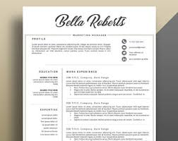 Modern Resume Template, Professional Resume Template, Professional CV  Template. Modern and Eye Catching