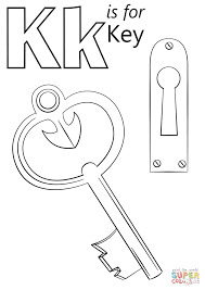 Small Picture Letter K is for Key coloring page Free Printable Coloring Pages