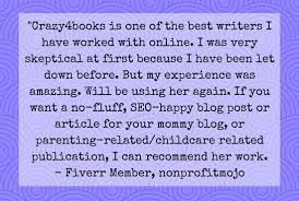 Write Professional 350 Word Blog Post On Child Care By Crazy4books