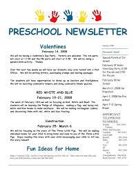 Weekly Newsletter Template For Preschool Teachers Meltfm Co