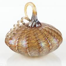 gorgeous gourd original hand blown glass pumpkin sculpture by jack pine hand signed by the artist