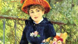 two sisters on the terrace by the french painter pierre auguste renoir
