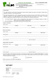 10 guardianship forms guardianship affidavit for farcical other forms