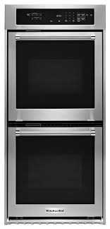 24 double wall oven with true convection stainless steel