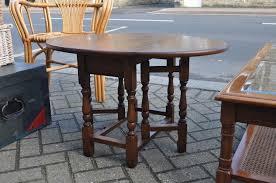 vintage retro old charm wood bros drop leaf coffee table lamp table
