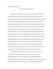 sonia shuka two kinds essay sonia shuka two kinds by amy tan 7 pages two kinds essay