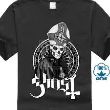 Designer Rock T Shirts Us 8 18 7 Off Designer T Shirts Broadcloth Ghost Bc Papa Emeritus Rock Band Tribute Men Short O Neck T Shirt Boys 100 Cotton In T Shirts From Mens