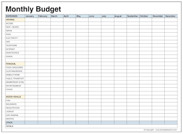 Monthly Budget Template Geocvc Co