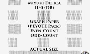 110 10 Miyuki Delica Beading Graph Paper Actual Size Peyote Or