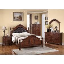 cherry wood bedroom set. Esofastore Cherry Wood Finish Traditional Formal Bedroom 4pc Set California King Size Bed Dresser Mirror Nightstand