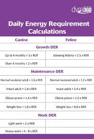 Rer Chart Calculate The Perfect Portions For Pets