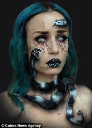 make up artist spends eight hours turning herself into monsters