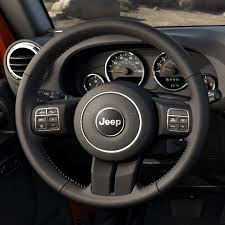 2017 jeep wrangler interior leather wrapped steering wheel