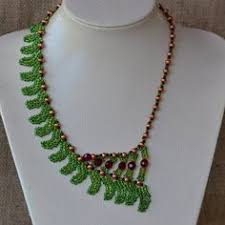 Beaded Necklace Patterns Cool 48 Best Beaded Necklace Patterns Images On Pinterest Beaded