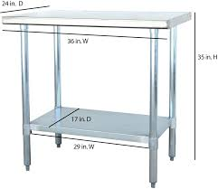 stainless steel utility table warranty certifications sportsman stainless steel kitchen utility table