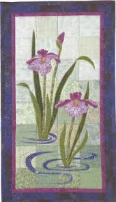 Small Picture Purple Iris Quilt by Ann Fahl from Ann Fahls Color and Quilts