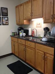 honey maple kitchen cabinets. Office Building Kitchenette- Honey Maple Kitchen Cabinets