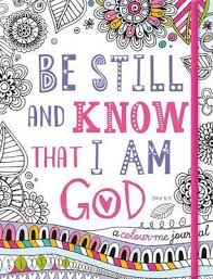 colouring book be still and know that i am colouring journal