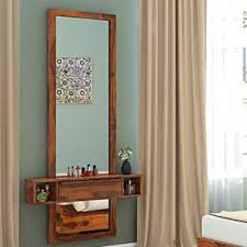 wall mounted dressing table designs for bedroom.  For Ohio Mirror Teak Finish By Urban Ladder In Wall Mounted Dressing Table Designs For Bedroom O