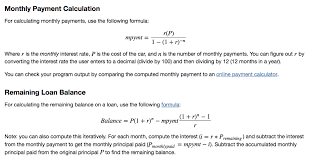 Principal Payment Calculation Solved Monthly Payment Calculation For Calculating Monthl