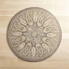 mersey ivory round wool rug pier 1 imports regarding rugs plans 8