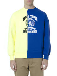 Tommy Hilfiger New York Fit Size Chart Best Price On The Market At Italist Tommy Hilfiger Tommy Hilfiger Blue Yellow Color Block Emboidered Sweatshirt