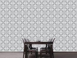 design wallpaper moroccan grey