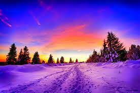 Winter Sunset Wallpaper and Background ...