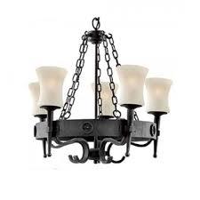 wrought iron 5 light cartwheel chandelier rustic gothic design lighting