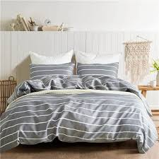 gray white striped pattern polyester 2 usa twin queen king bedding sets kids duvet cover set quilt cover bed set bedclothes striped duvet covers linen duvet