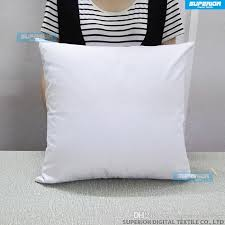 plain white color pure cotton canvas pillow cover with zipper for custom diy print blank cotton pillow cover 8oz 255gsm plain white color pillow