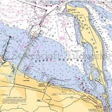New Jersey Sandy Hook Nautical Chart Decor