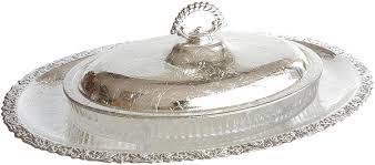 <b>Блюдо с крышкой</b> овальное на подставке Queen Anne ...