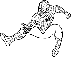 Small Picture Stunning Coloring Pages Spiderman Printable Images Coloring Page