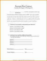Payment Plan Template Payment Agreement Form Pdf Zaloy Carpentersdaughter Co