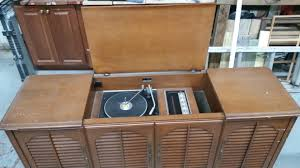 Cabinet Record Player Upcycling A Stereo Cabinet Shoeless Jos Recycology