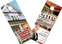door hanger design real estate. Real Estate Door Hangers Agent Realtor Hanger Design G