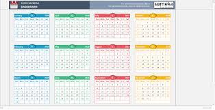Microsoft Excel Calendar 2020 Excel Calendar Template