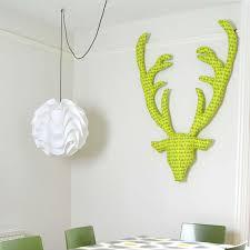 cheerful fabric stag head
