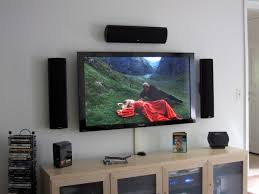 sound system for tv. extraordinary tv mounting activity for extra inspirational technique: best flat tv plasma with black sound system surrounded and exotic wooden t\u2026 m